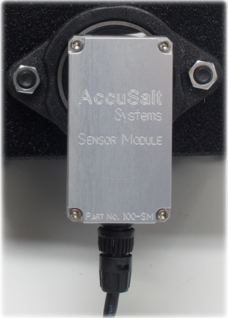 Accusalt Systems Sensor module for monitoring salt application.. It is a custom module created for our material sensing requirements.