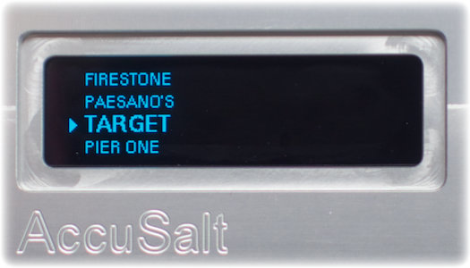 The AccuSalt can show the site list and will sequentially advance to the next site.